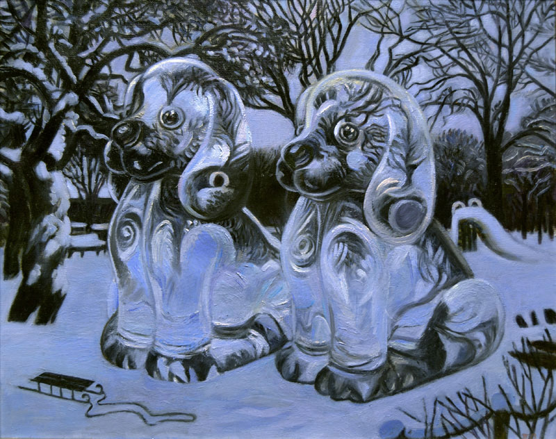 Ice Dogs 2013 40x50 in private collection