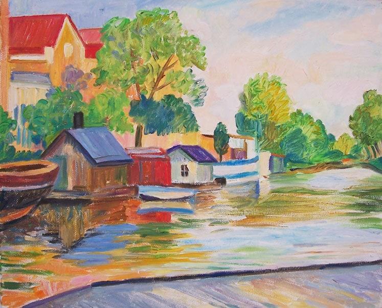 Fyrisån 30x40, oil on the canvas