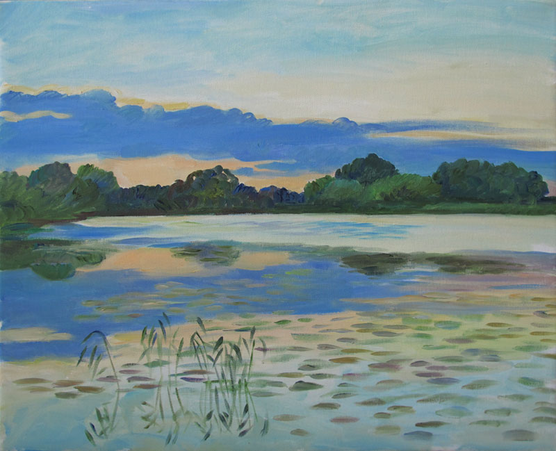 Evening , Fyrisån, 40x50 in a private collection