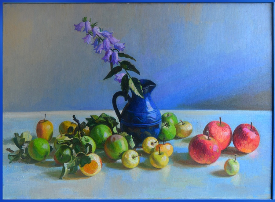 Stillife with fruts 70x90 oil on the canvas