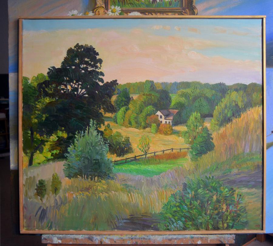 Gamla Uppsala 60x70, oil on the canvas
