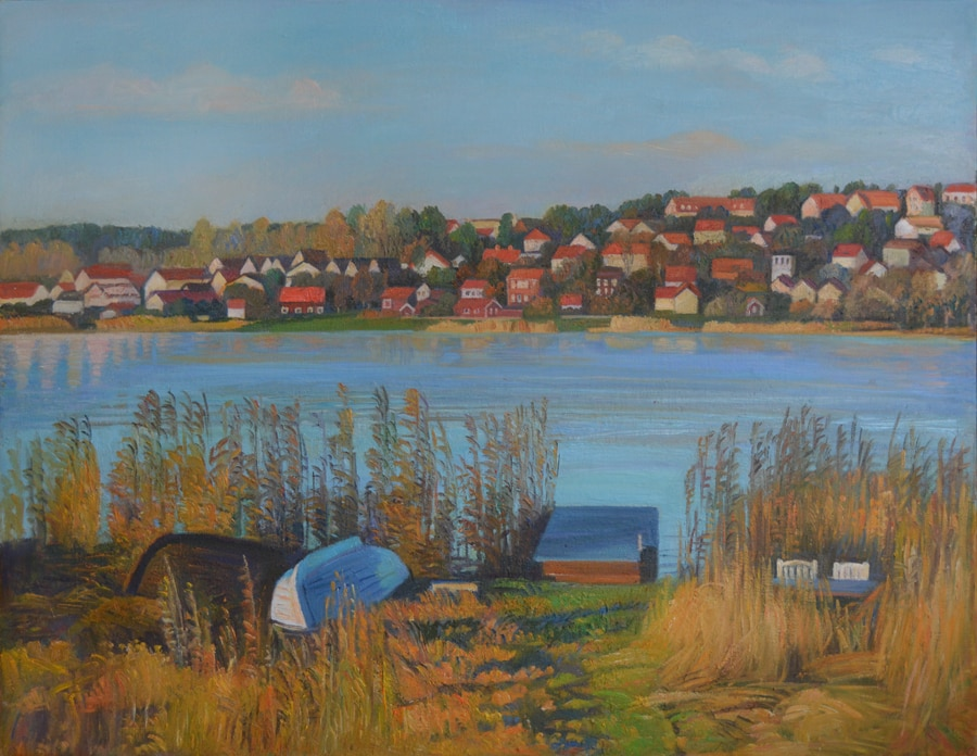 Sigtuna, oil on the canvas,  80x70 in private collection