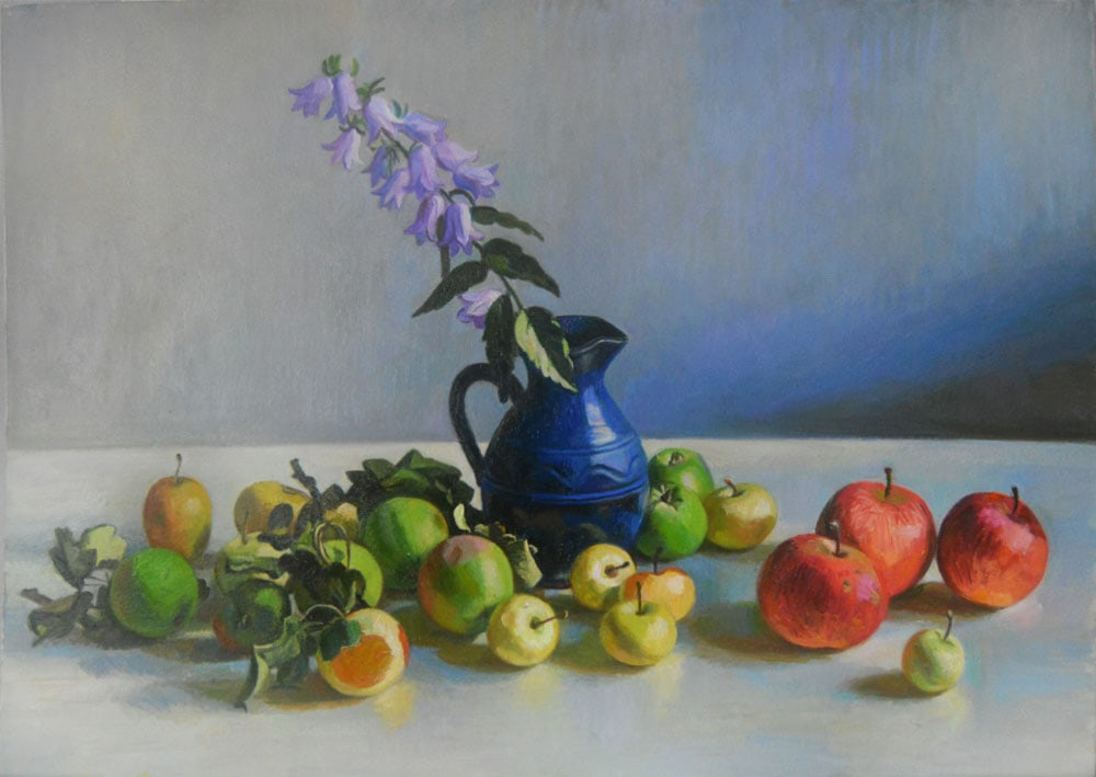 Fruts and flowers 70x90 oil on the canvas
