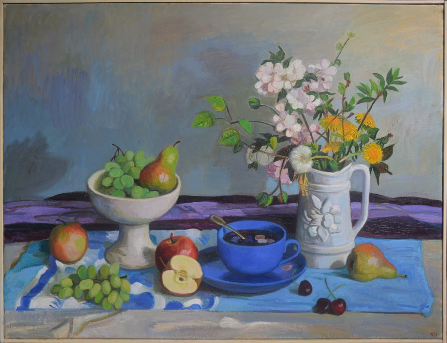 Stillife with fruts and flowers 2019 70x90