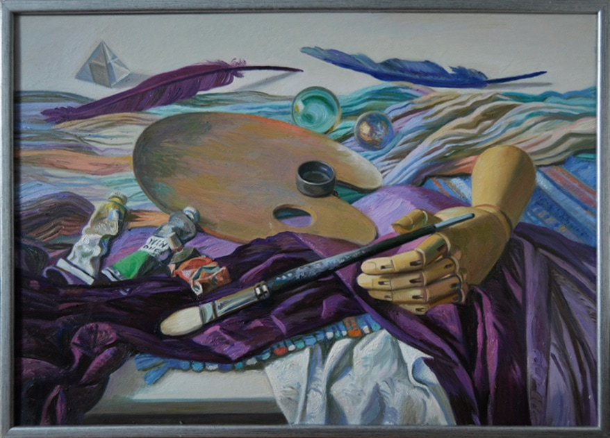 Attributs of Art\\\'s , 2014, oil on the carton